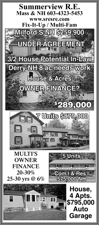 Milford S NH $259,000 Under Agreement