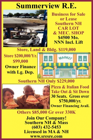 Business for Sale or Lease